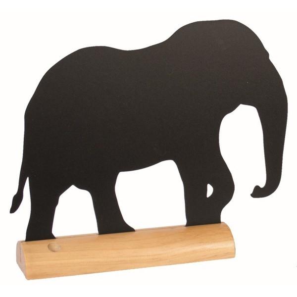 Tabuľa na písanie na drevenom stojane skriedovým popisovačom Securit Silhouette Elephant, 24,5x28cm