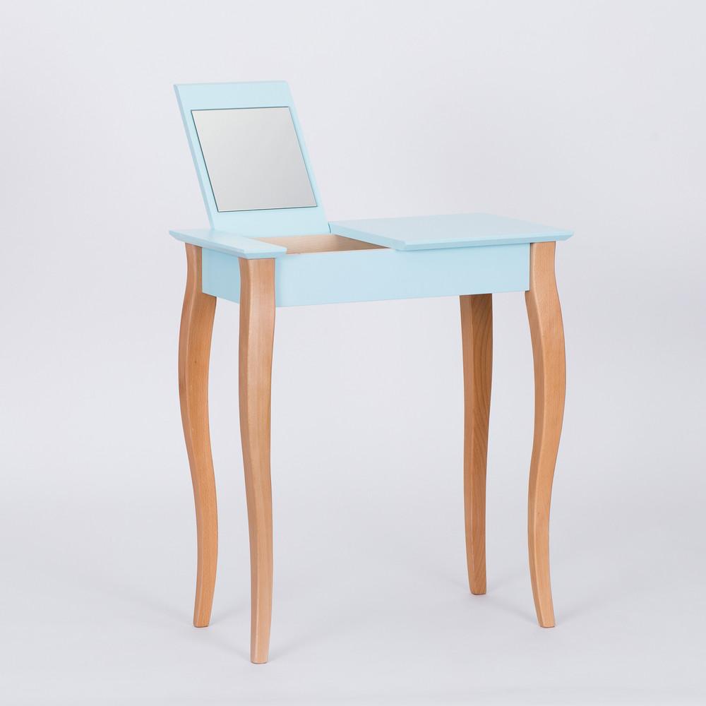 Svetlotyrkysový toaletný stolík sozrkadlom Ragaba Dressing Table,dĺžka65cm