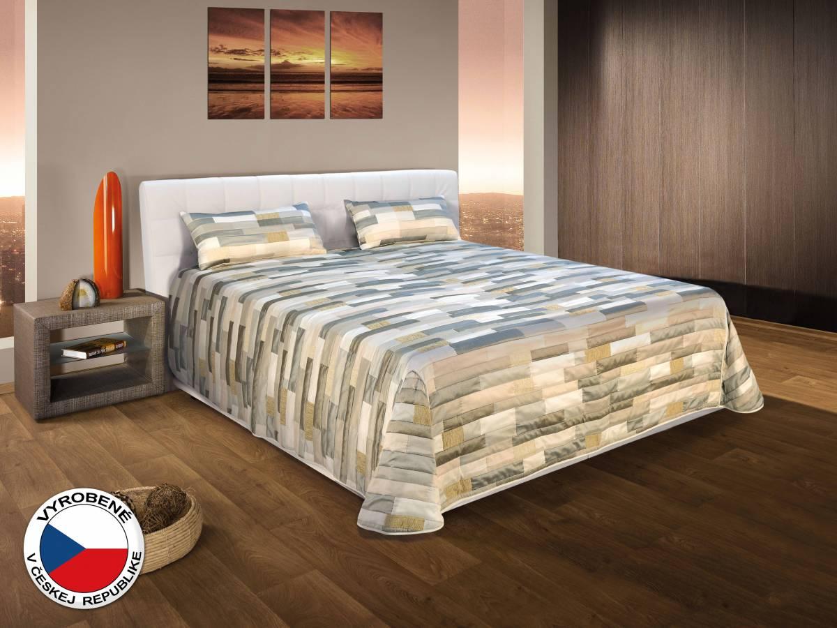 Manželská posteľ 180 cm Blanár Monaco (biela) (s roštami a matracmi)