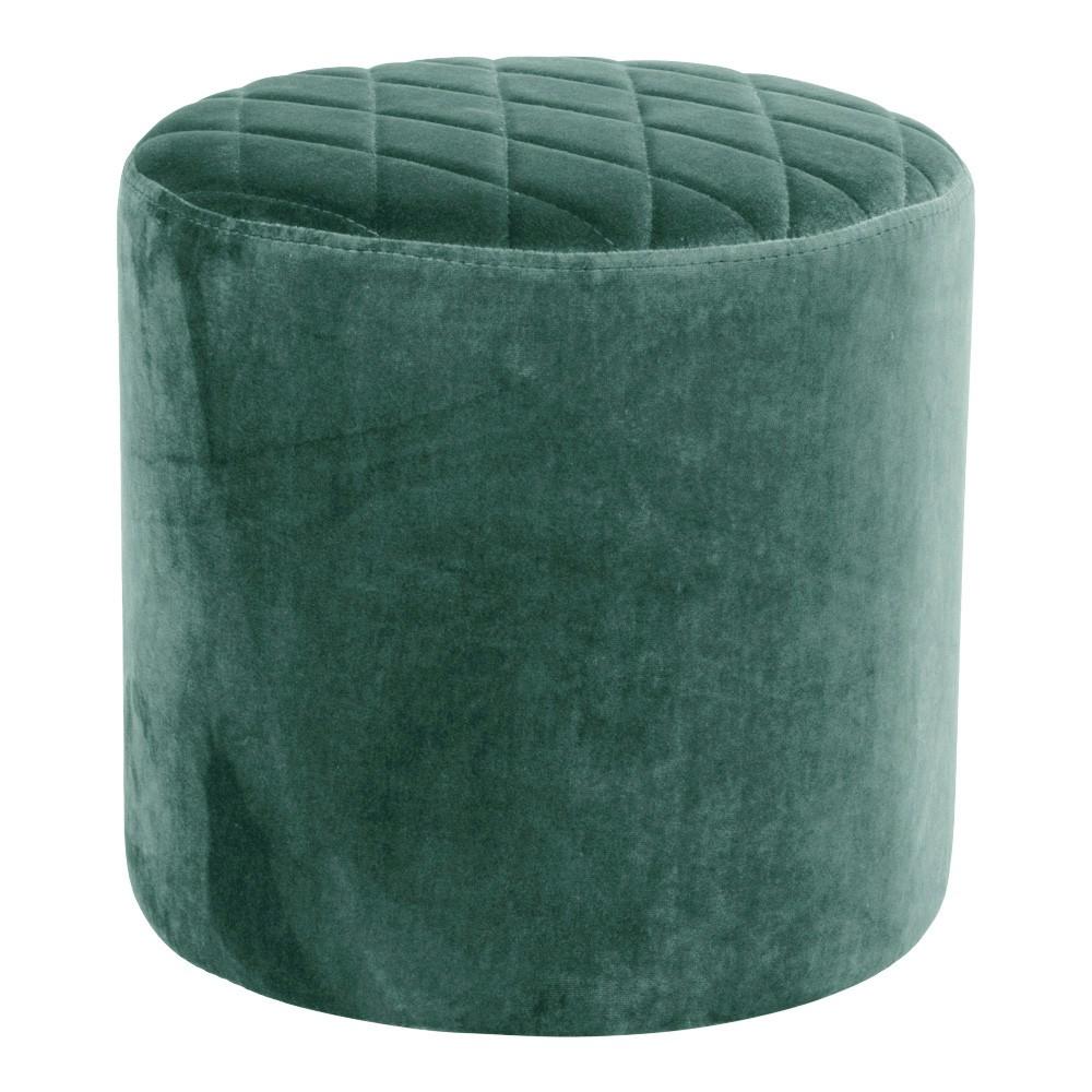 Zelený puf zo zamatu House Nordic Ejby