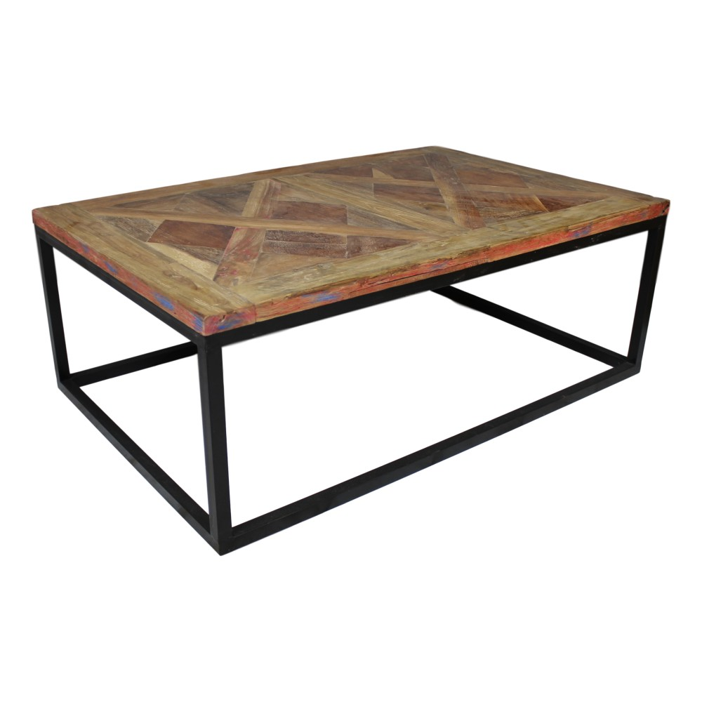 Odkladací stolík z teakového dreva HSM Collection Mozaik, 70 x 110 cm
