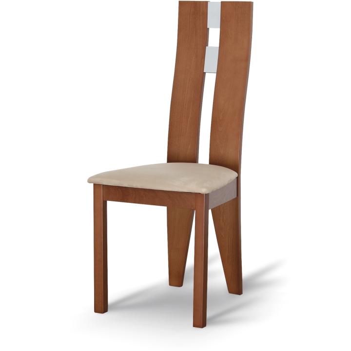TEMPO KONDELA BONA jedálenská stolička - čerešňa / béžová