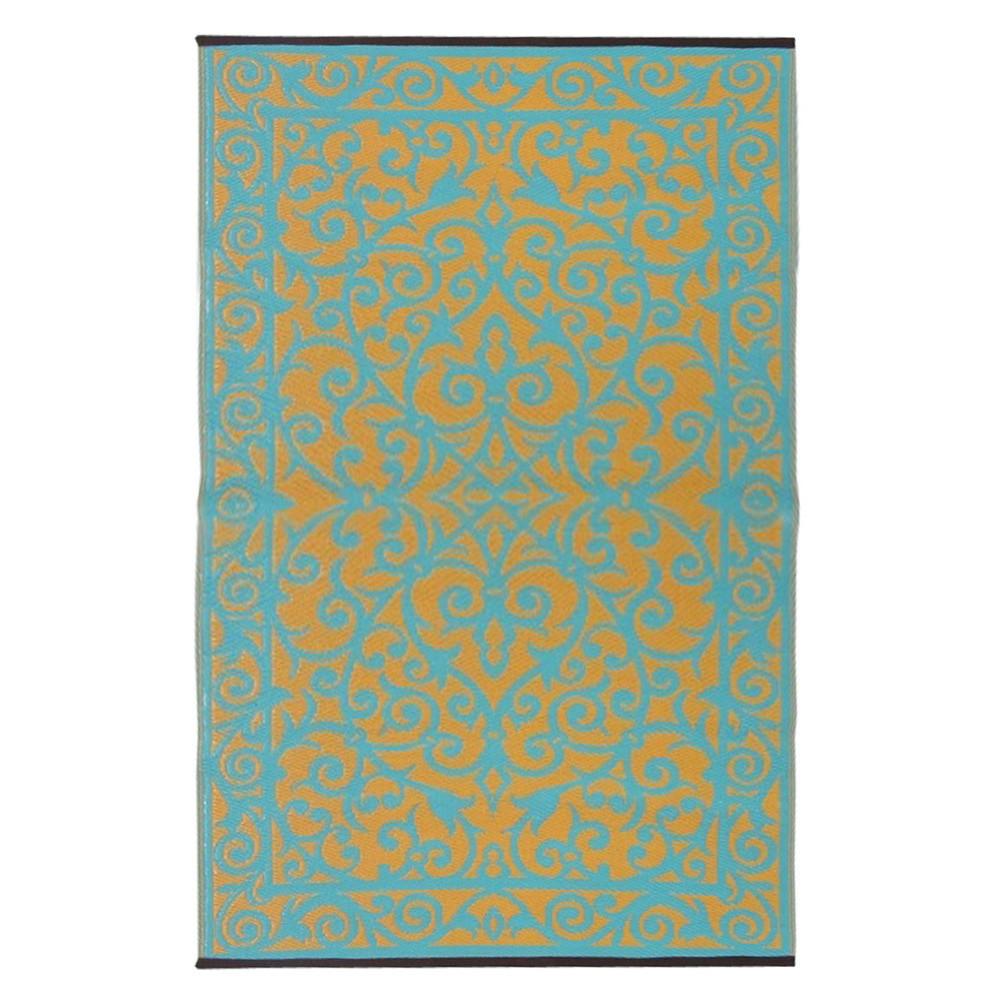 Modro-zelený obojstranný vonkajší koberec Green Decore Gala, 90x150cm