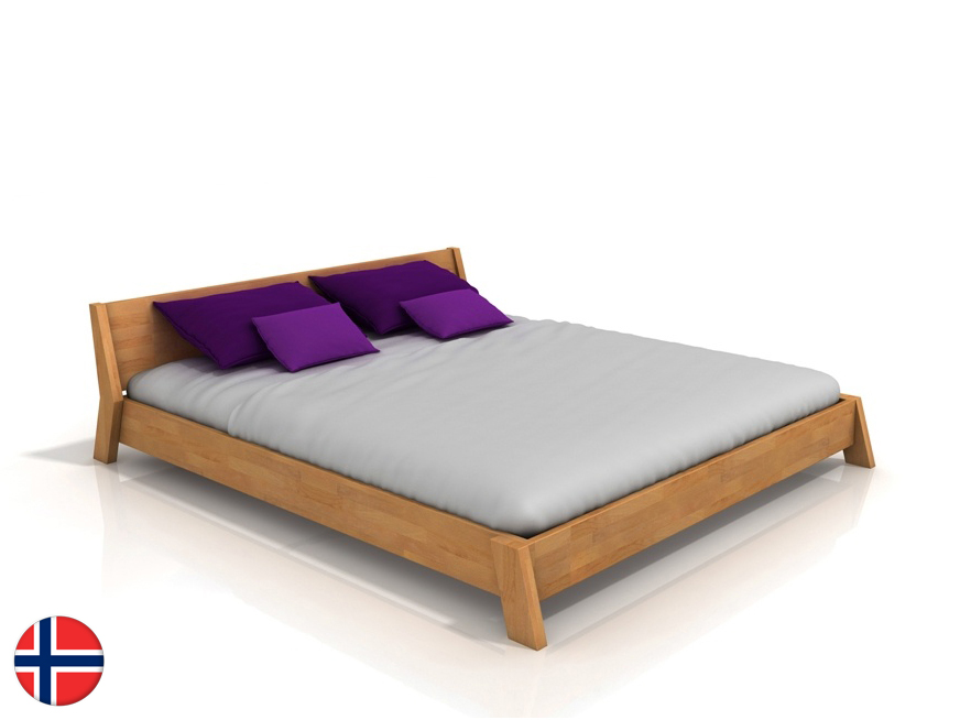 Manželská posteľ 160 cm Naturlig Skjolden (buk) (s roštom)
