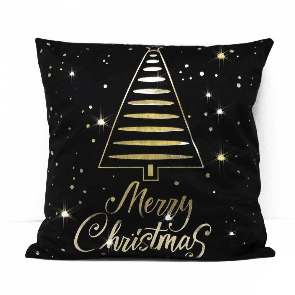 Domarex Vianočná obliečka na vankúšik Christmas Tree, 45 x 45 cm