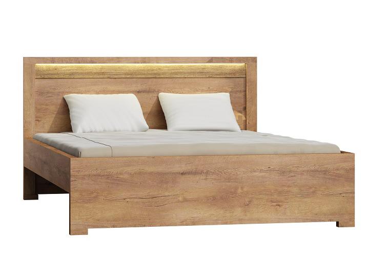 Manželská posteľ 160 cm Infinity (jaseň svetlý) (s roštom)