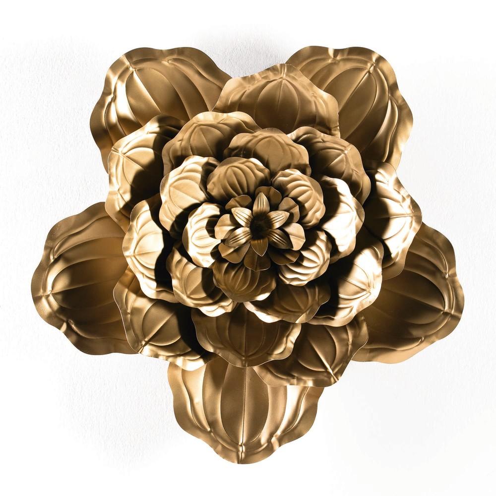Dekorácia v zlatej farbe Thai Natura Bunga, ⌀69cm