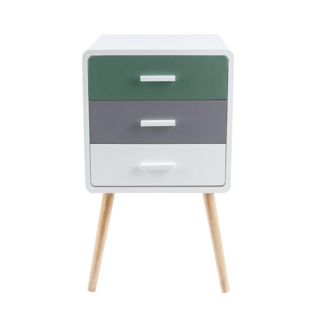 Odkladací stolík s 3 zásuvkami Leitmotiv Neat Tropic