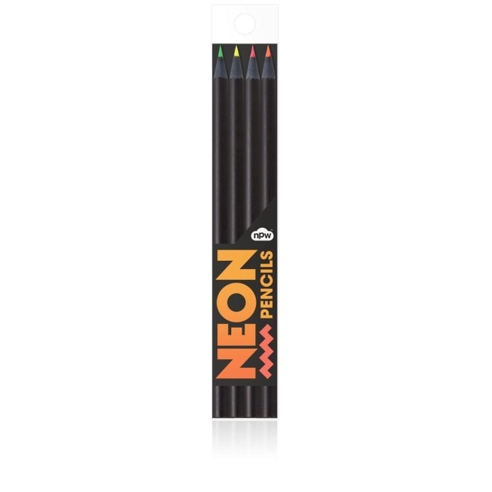 Sada 4 pasteliek NPW Neon Pencils