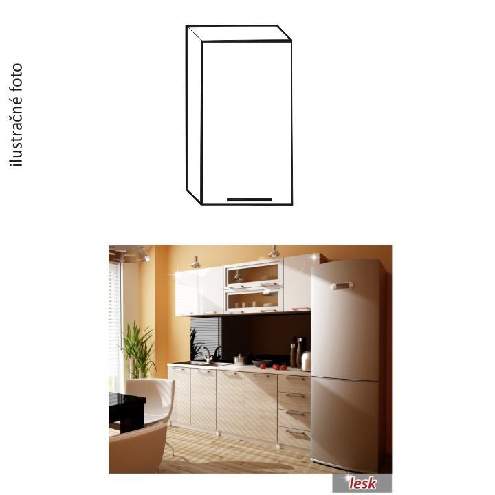 TEMPO KONDELA Kuchynská skrinka, ľává, biely lesk, ITA G-40