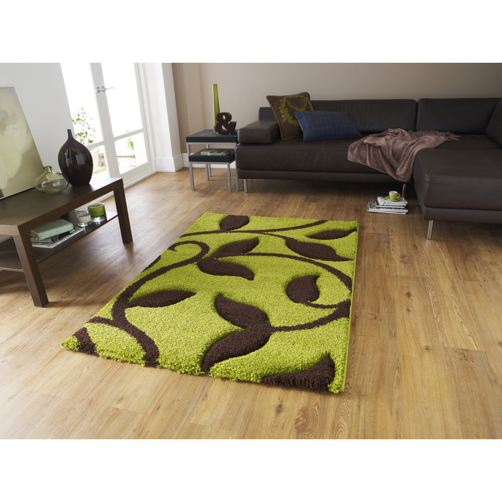 Zeleno-hnedý koberec Think Rugs Fashion, 120x170cm
