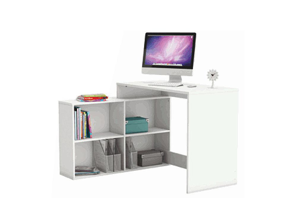 Rohový PC stolík Korner biela