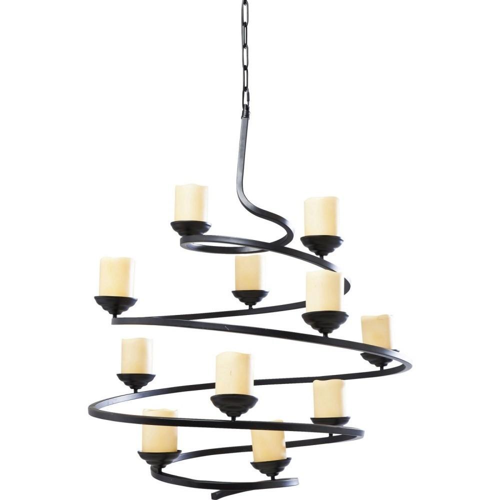 Závesné svietidlo s dekoratívnymi sviečkami Kare Design Spiral