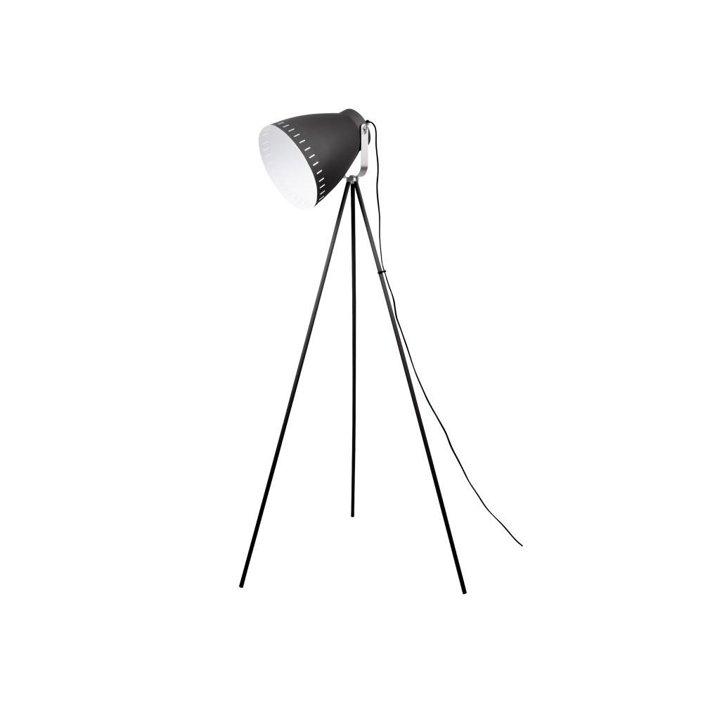 Čierna voľne stojacia lampa Tristar