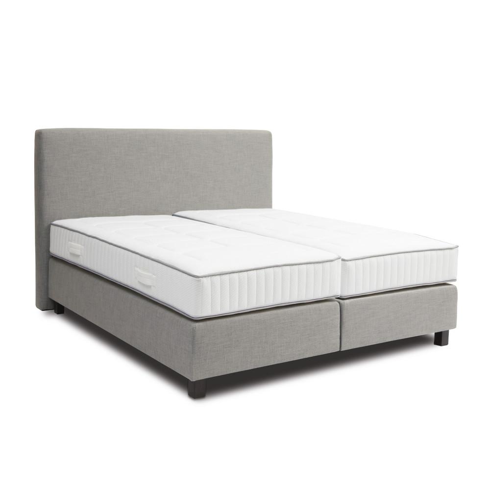 Svetlosivá boxspring posteľ Revor Roma, 180 x 200 cm