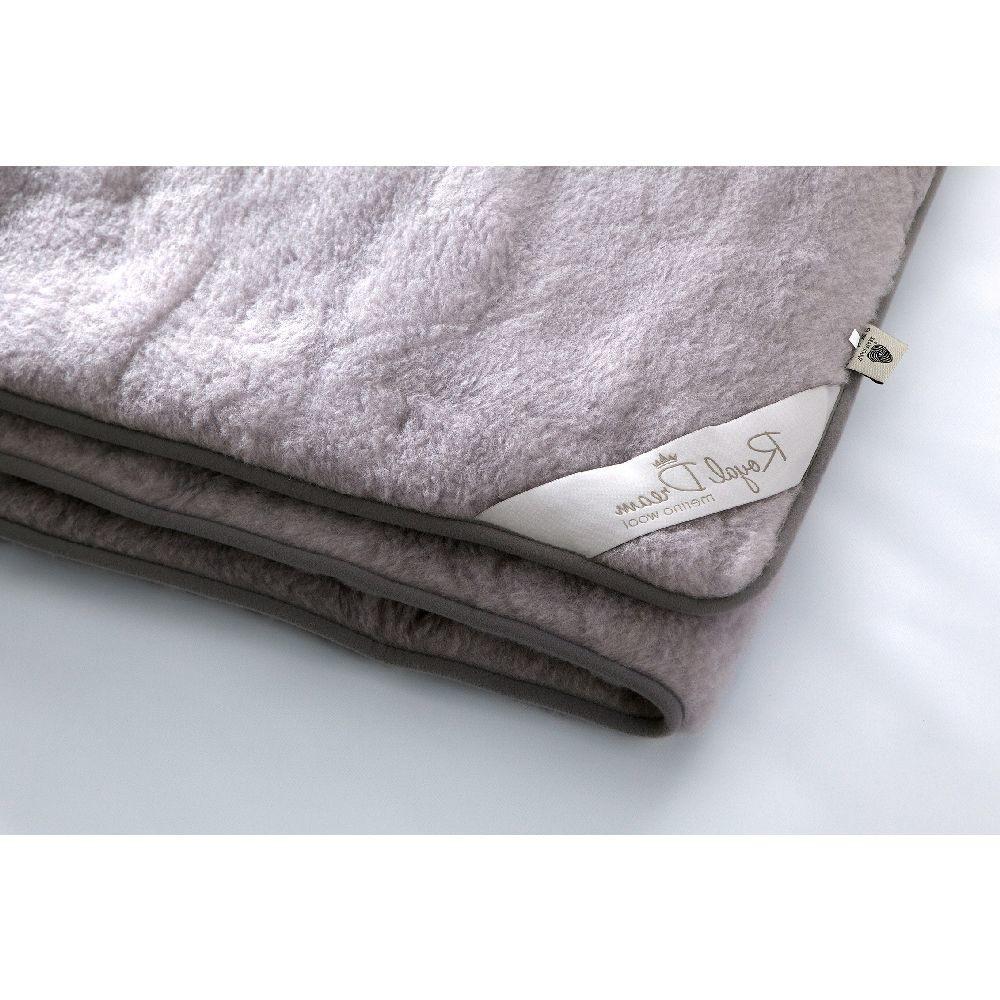 Sivá vlnená deka Royal Dream Merino, 140x200cm