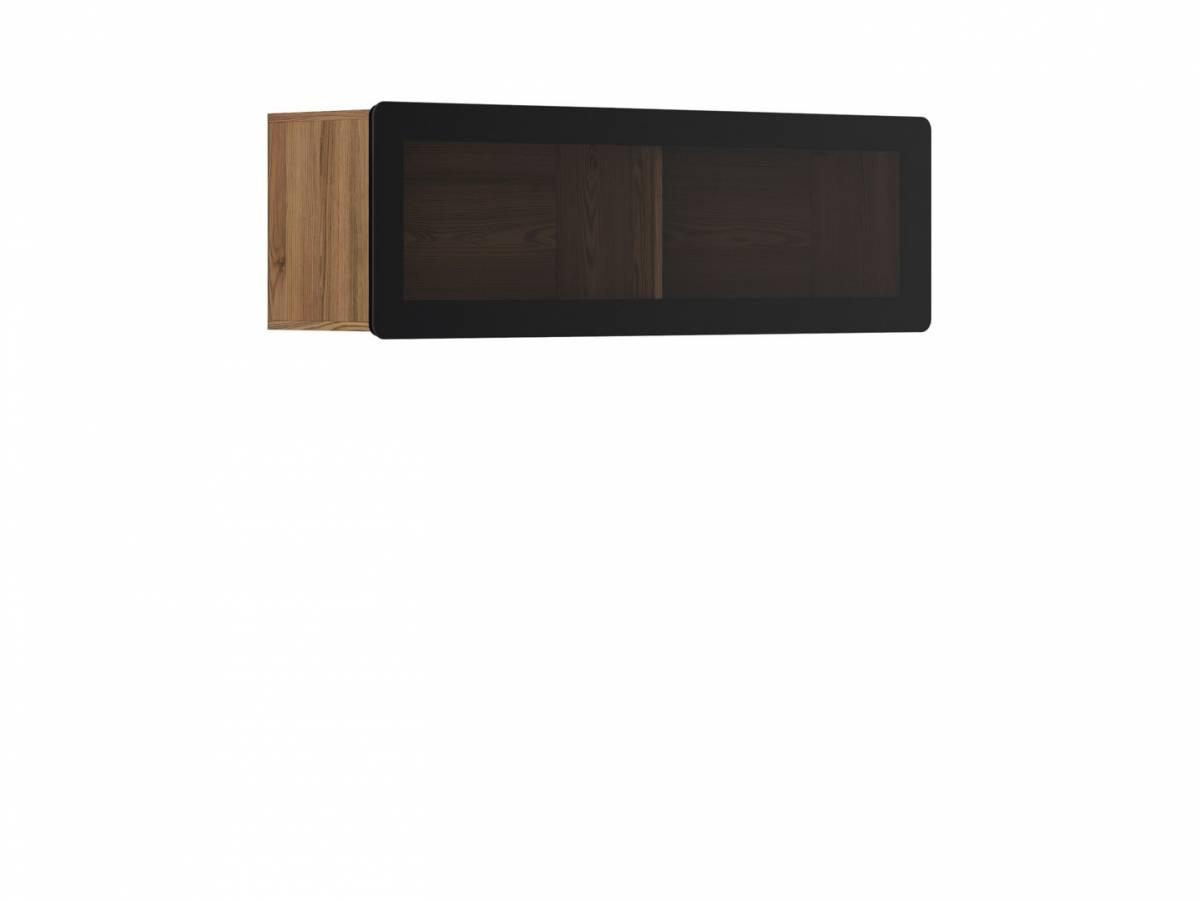 Vitrína na stenu Possi Light SFW1WK/4/13 (smrekovec sibiu zlatý) (s osvetlením)