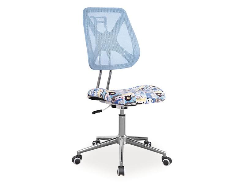 Detská stolička Alto (modrá + vzor)