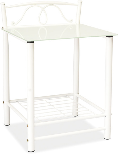 SIGNAL ET-920 nočný stolík - biela