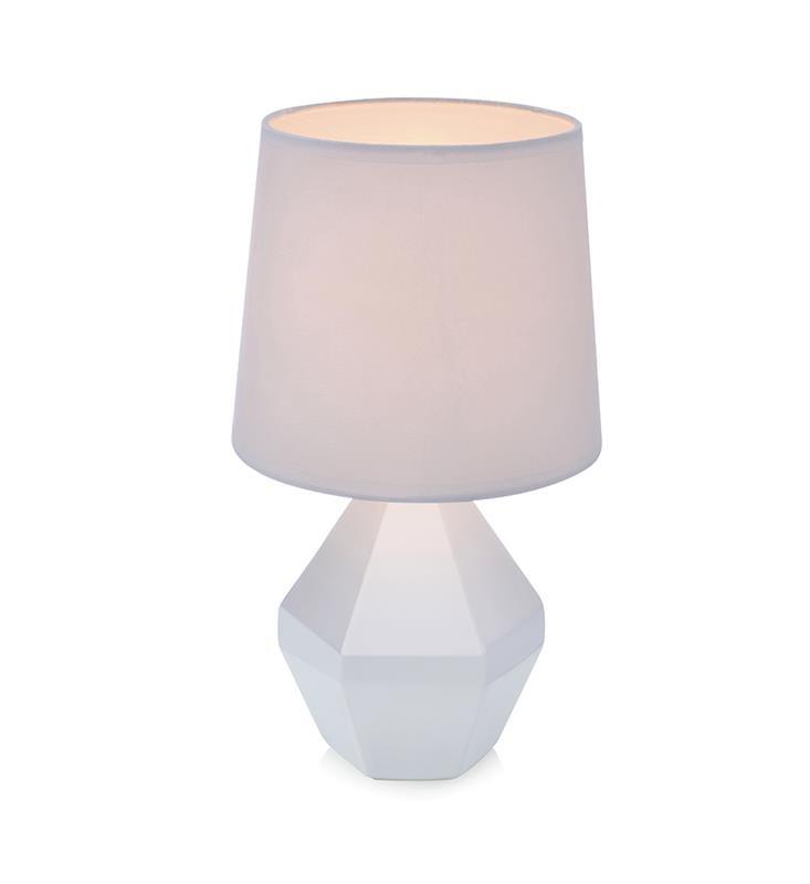 Biela stolová lampa Markslöjd Ruby