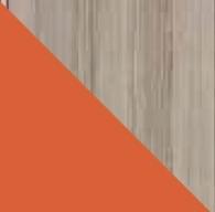 Policová skriňa Ultimo U3   Farba: jaseň coimbra tmavá / pomaranč