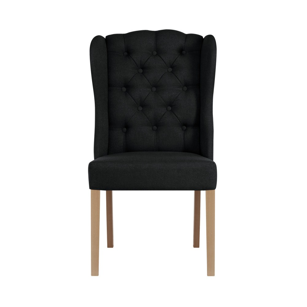Čierna stolička Jalouse Maison Hailey