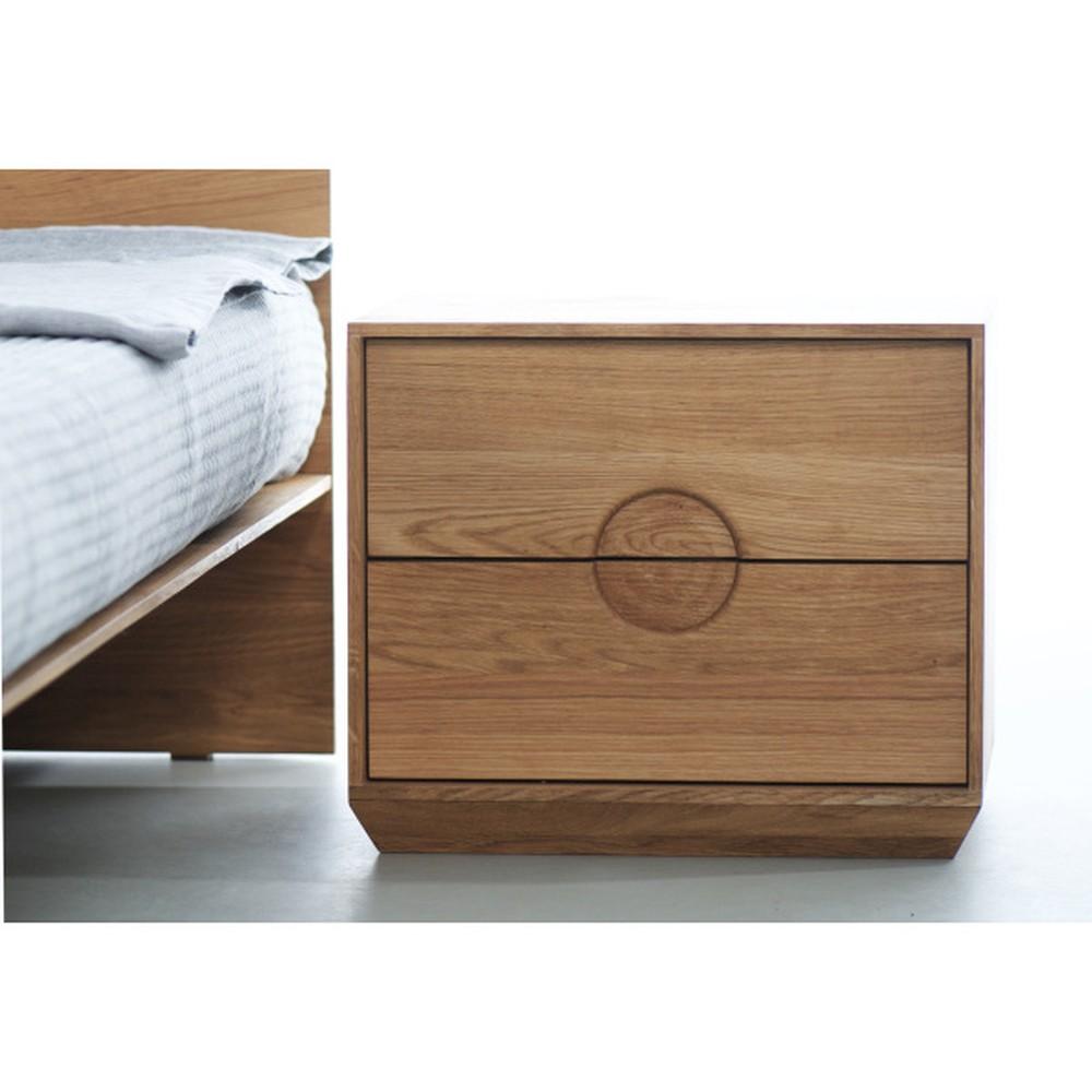 Nočný stôl z olejovaného dubového dreva Mazzivo Borgo 2.0