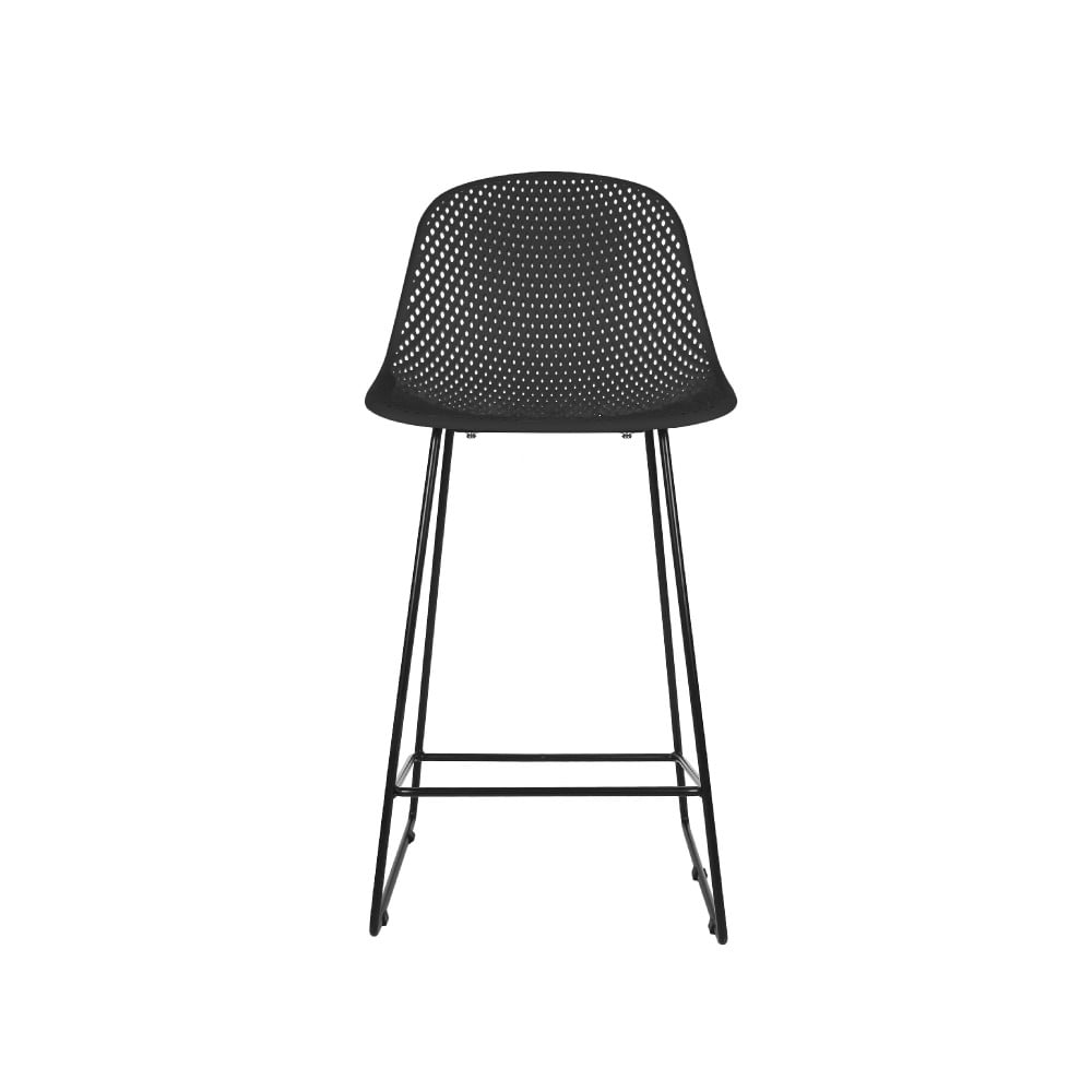 Čierna barová stolička Leitmotiv Diamond Mesh