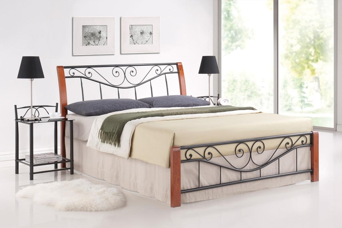 SIGNAL PARMA 160 posteľ s roštom - čerešna antická