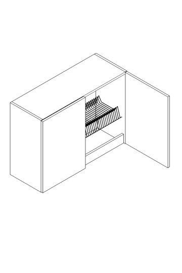 >> W80SU/58 horná skrinka s odkvapávačom MOREEN Cocobolo