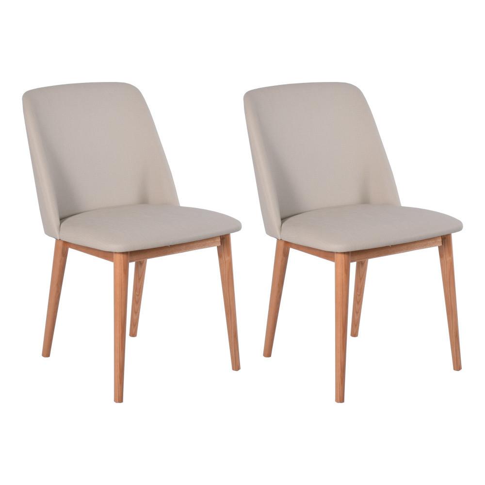 Sada 2 béžových dubových jedálenských stoličiek RGE Perstorp