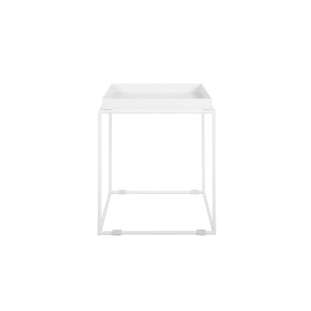 Biely kovový odkladací stolík Monobeli Jane