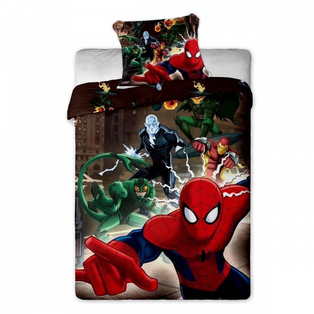 Jerry Fabrics Detské obliečky Spiderman brown 2015, 140 x 200 cm, 70 x 90 cm