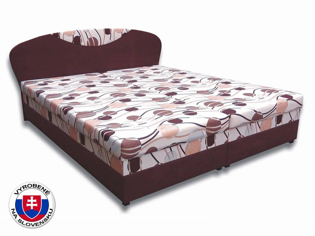 Manželská posteľ 160 cm Izabela 5 (s penovými matracmi)