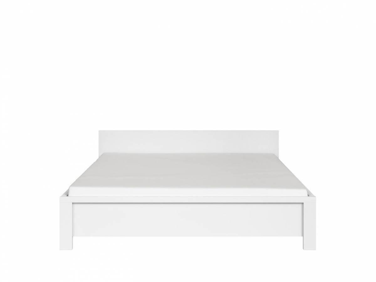 Manželská posteľ 160 cm Kaspian LOZ/160 (biela + biela matná)