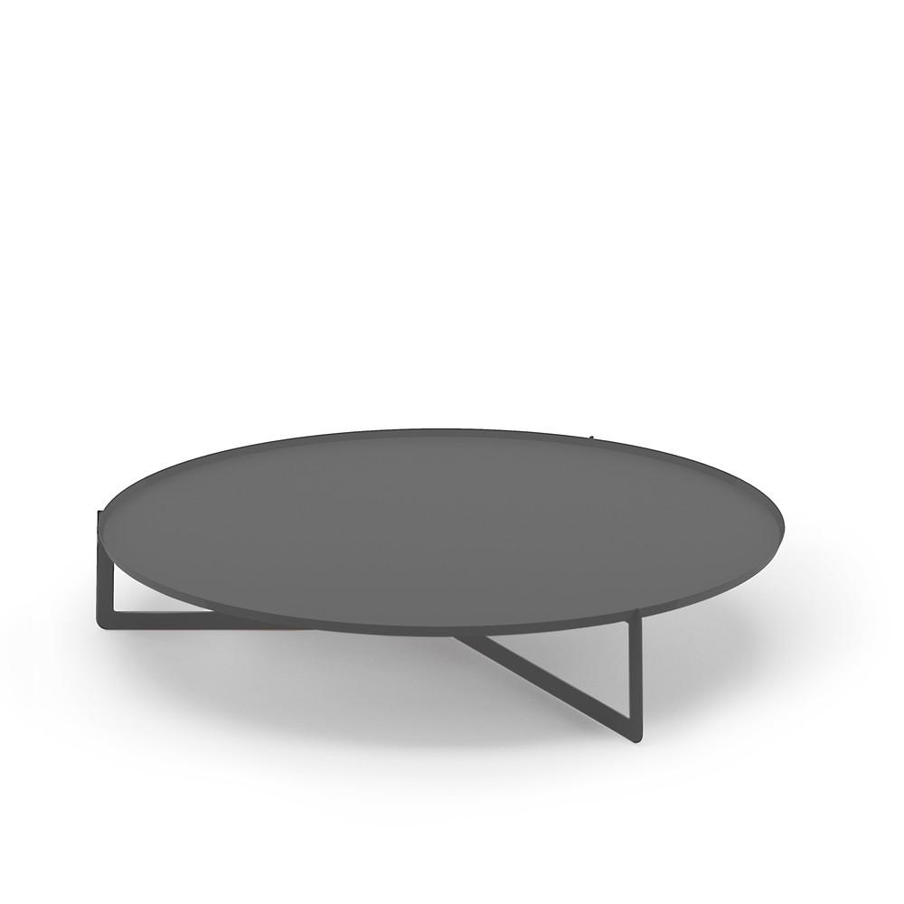 Tmavosivý konferenčný stolík MEME Design Round, Ø 120 cm