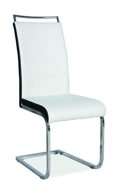 Jedálenská stolička HK-441, biela/čierne boky