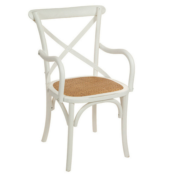 Biela drevená stolička Santiago Pons Manolo