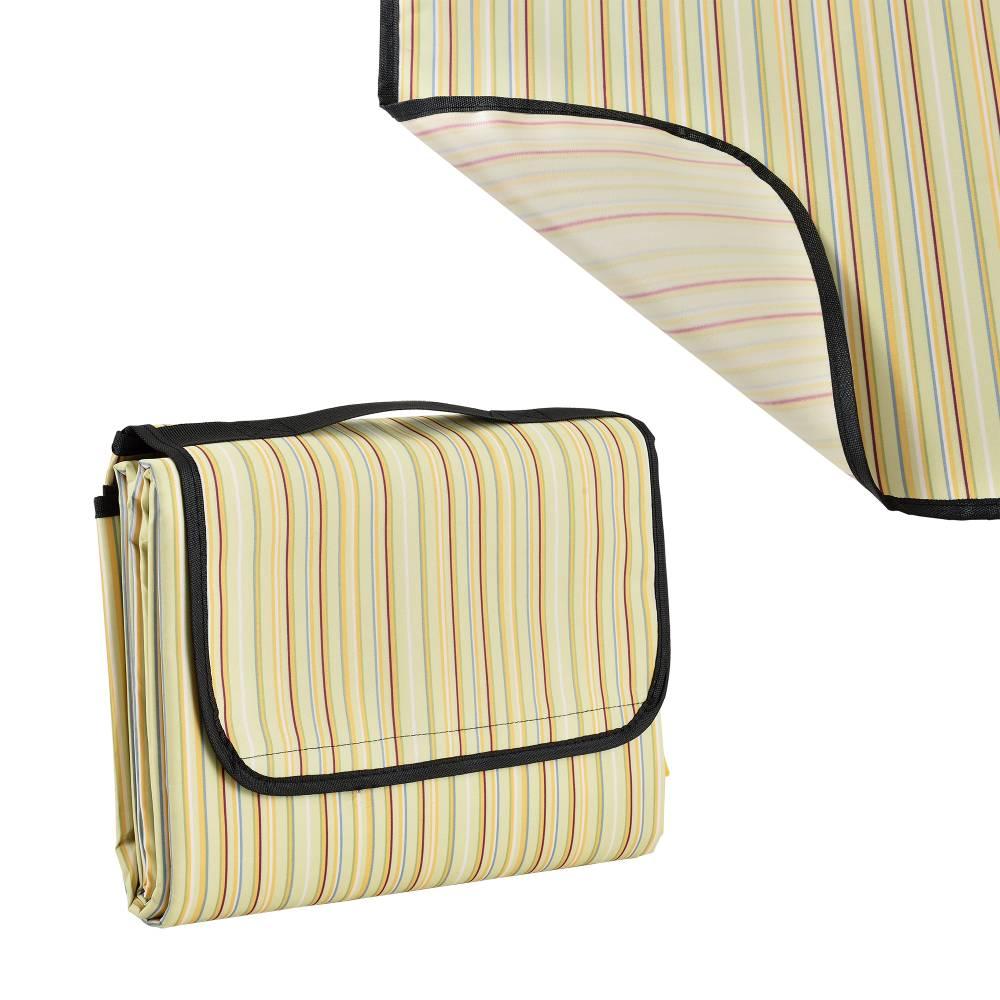 [casa.pro]® Pikniková deka - žltá - 200 x 190 cm