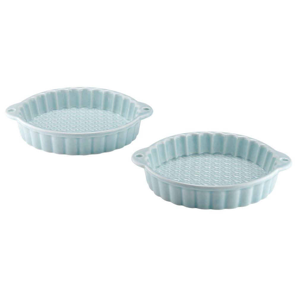 Sada 2 tyrkysových porcelánových foriem na koláčiky Ladelle Bake