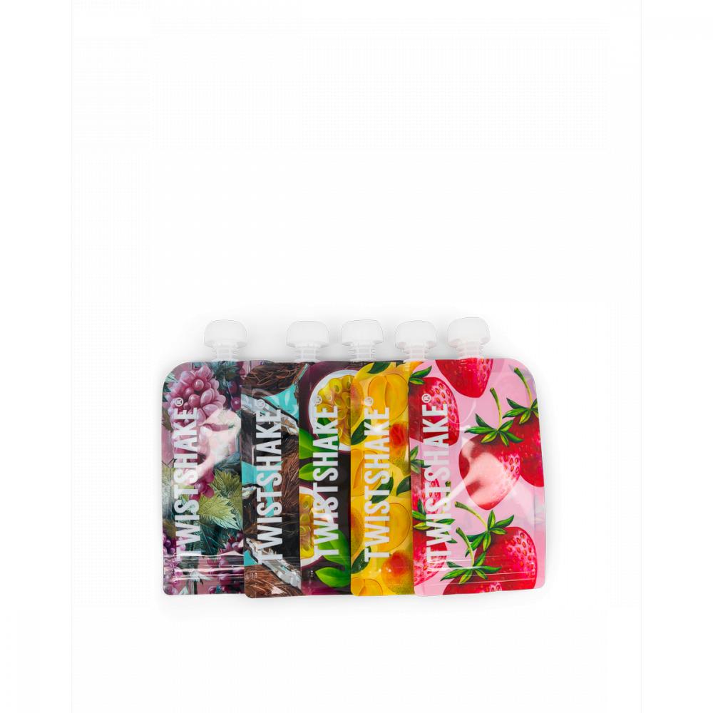 Twistshake Plniteľná kapsička Fruit 220 ml, 5 ks