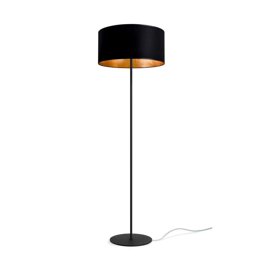 Čierno-zlatá stojaca lampa Sotto Luce Mika, Ø 40 cm