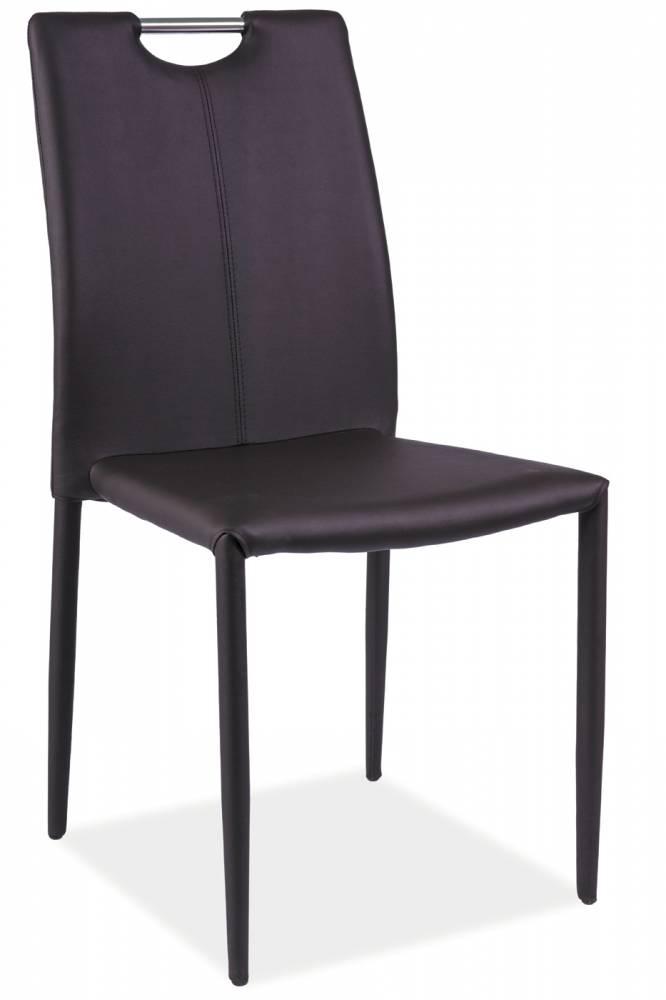 Jedálenská stolička H-322 (ekokoža hnedá)
