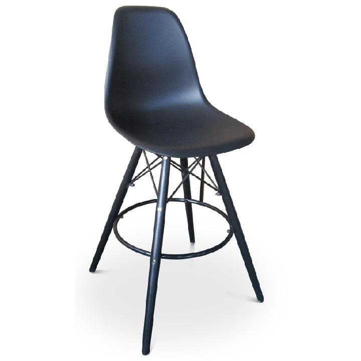 TEMPO KONDELA Barová stolička, čierna, CARBRY