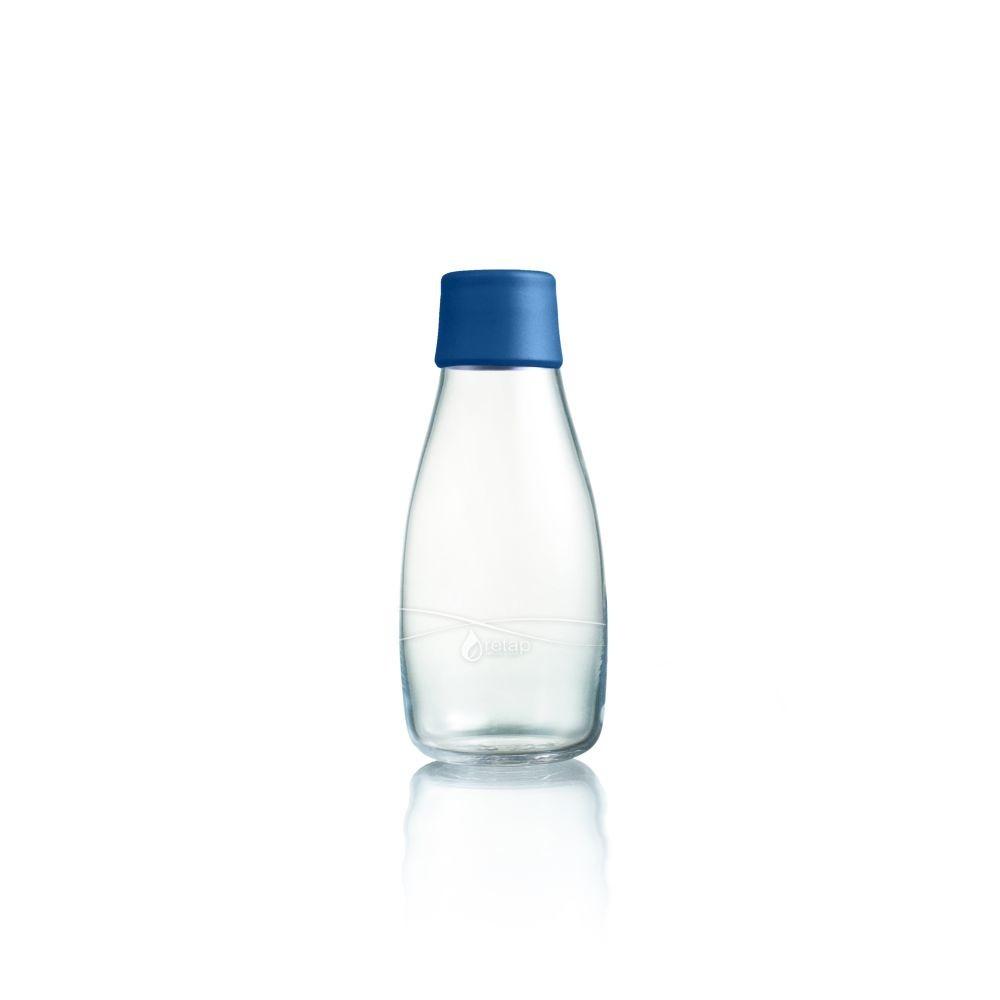Tmavomodrá sklenená fľaša ReTap s doživotnou zárukou, 300ml