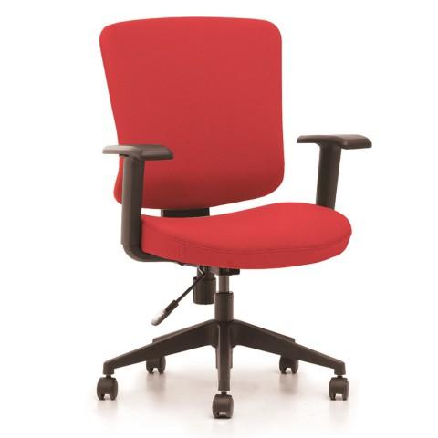 Rauman Kancelárska stolička Casa, červený sedák aj opierka chrbta CASA B14