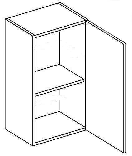 >> W40 P/L horná skrinka jednodverová, vhodná ku kuchyni NORA
