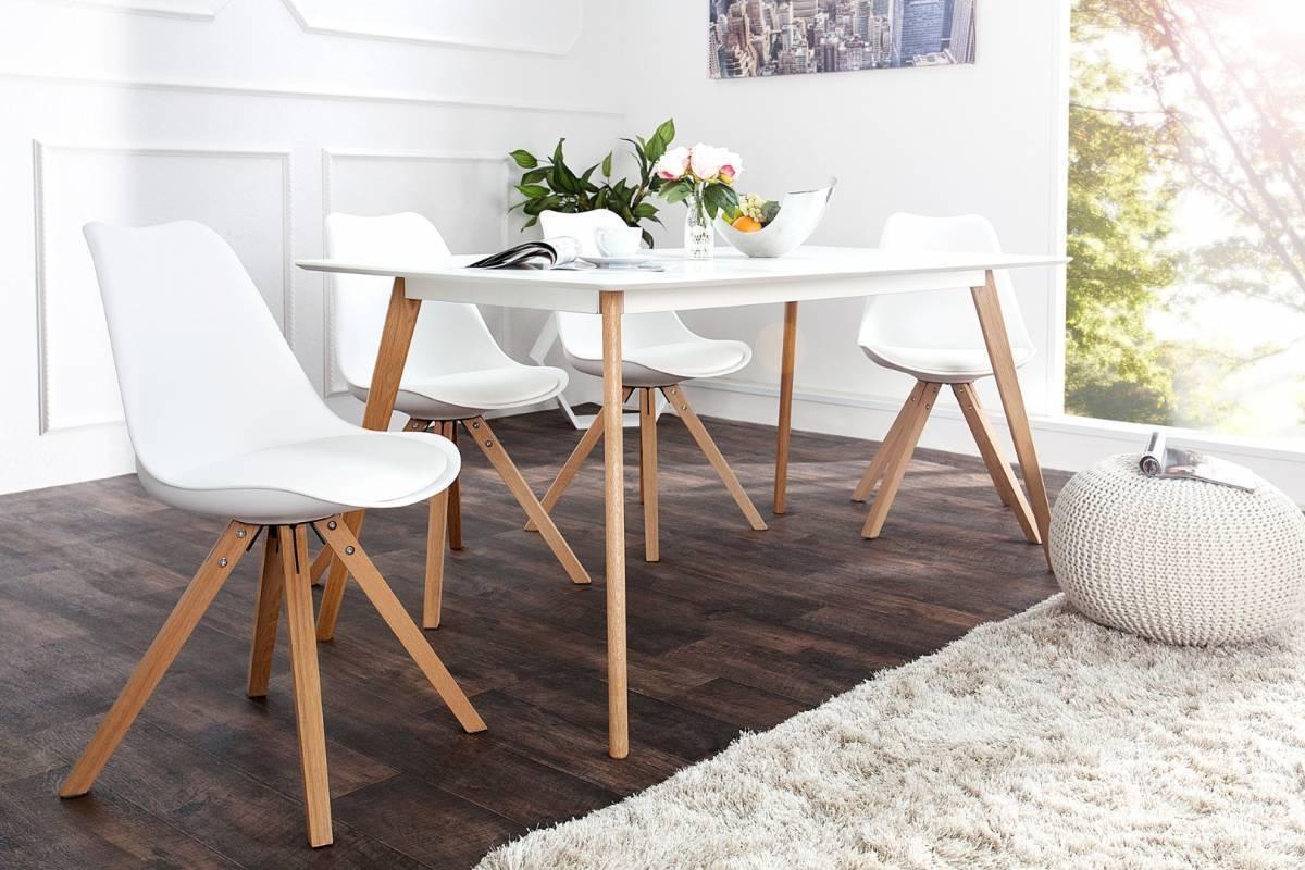 Jedálenská stolička SCANIA - biela