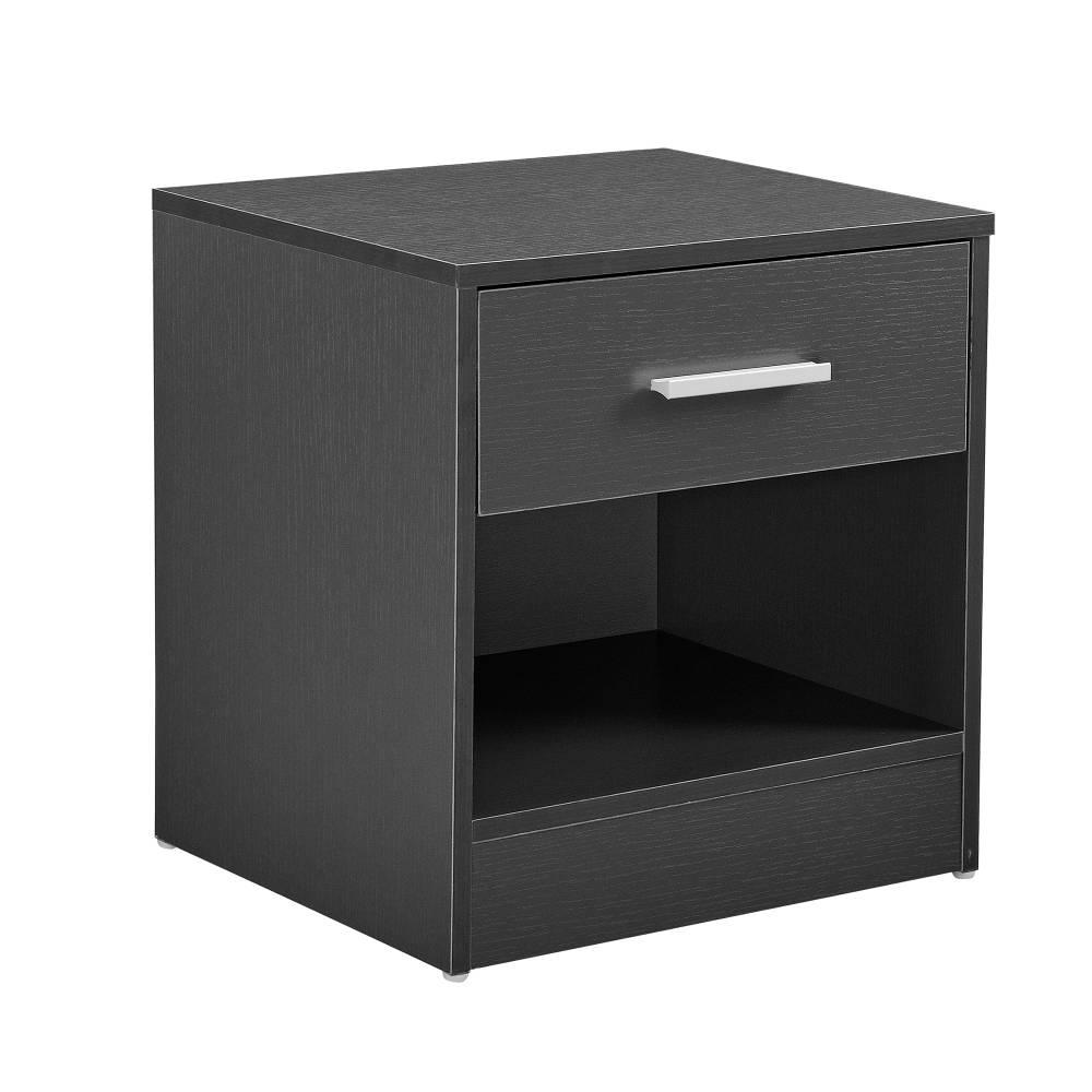 [en.casa]® Nočný stolík so zásuvkou - komoda / kancelárska skrinka - sivá