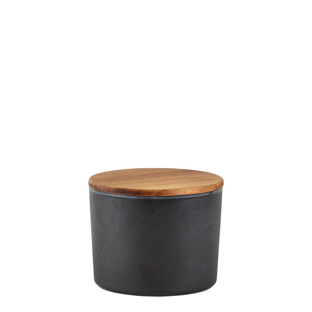 Bambusová dóza na potraviny s vekom Villa Collection Black, 6 dl